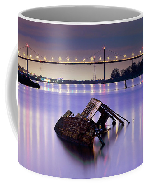 River Clyde Coffee Mug featuring the photograph Ship Wreck by Grant Glendinning