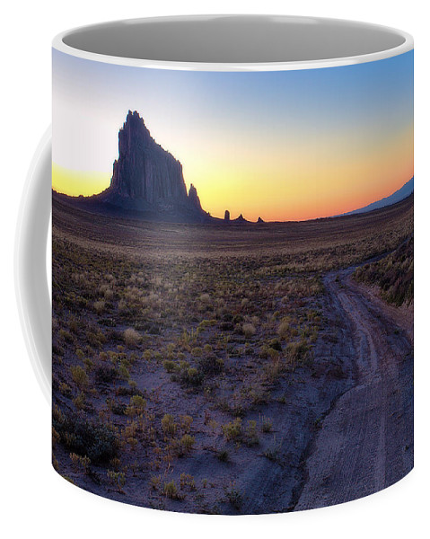 Shiprock Coffee Mug featuring the photograph Shiprock Sunset by Pam Colander
