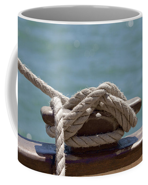 Ship Coffee Mug featuring the photograph Ships Rigging I by Michelle Wrighton