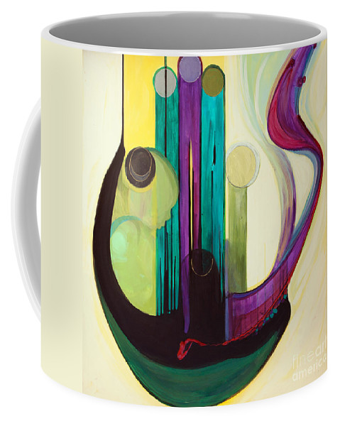 Judaic Coffee Mug featuring the painting Shir Lamaalot Psalm 121 by Marlene Burns