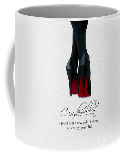 Christian Louboutin Coffee Mug featuring the mixed media Shoes Can Change Your Life by My Inspiration
