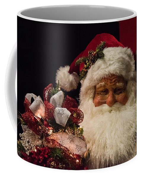 Santa Claus Coffee Mug featuring the photograph Shopping Mall Santa by Lee Roth