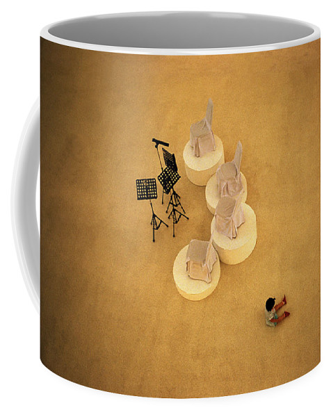 Bizarre Coffee Mug featuring the photograph Shopping Mall by Shaun Higson