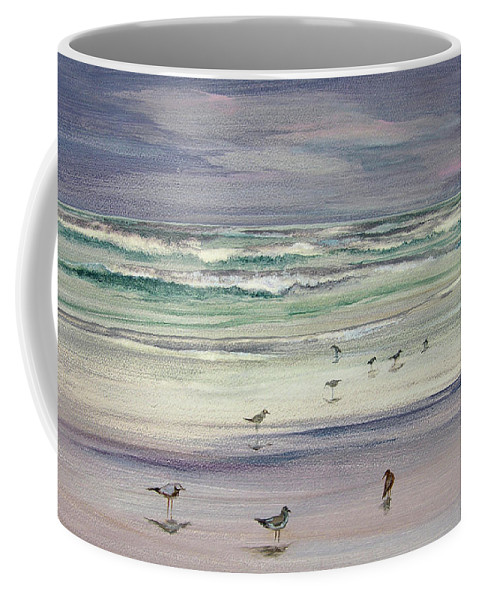 Original Paintings Coffee Mug featuring the painting Shoreline Birds IIi by Julianne Felton
