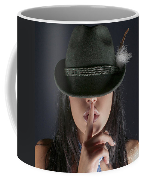Silence Coffee Mug featuring the photograph Shush by Guy Viner