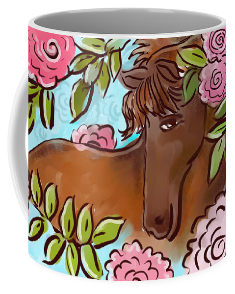Landscape Coffee Mug featuring the digital art Shy Winner by Elaine Jackson