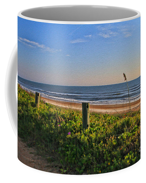 Sunrise Coffee Mug featuring the photograph Side Of The Road In Flagler by Deborah Benoit