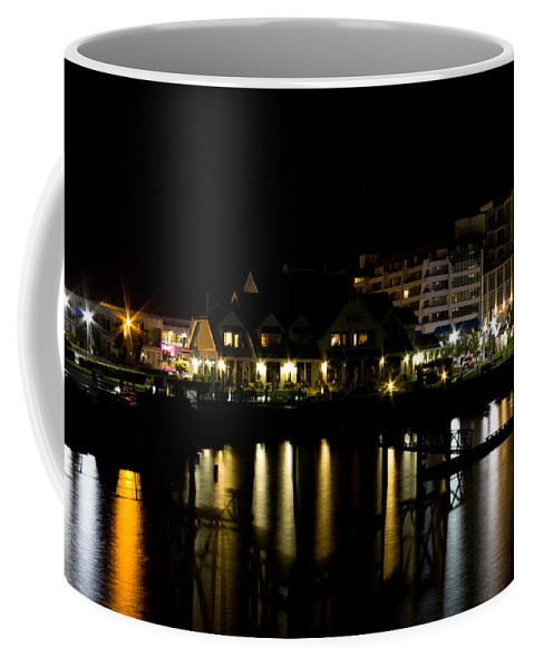 Night Coffee Mug featuring the photograph Sidney Bc At Night by John Daly