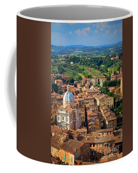 Duomo Coffee Mug featuring the photograph Siena From Above by Inge Johnsson