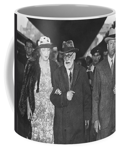 1938 Coffee Mug featuring the photograph Sigmund Freud Exiled by Underwood Archives