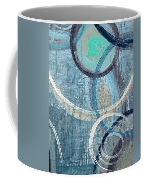 Abstract Coffee Mug featuring the painting Silent Drizzle by Ruth Palmer