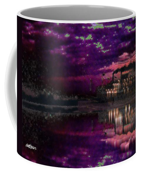 Silent River Coffee Mug featuring the digital art Silent River by Seth Weaver