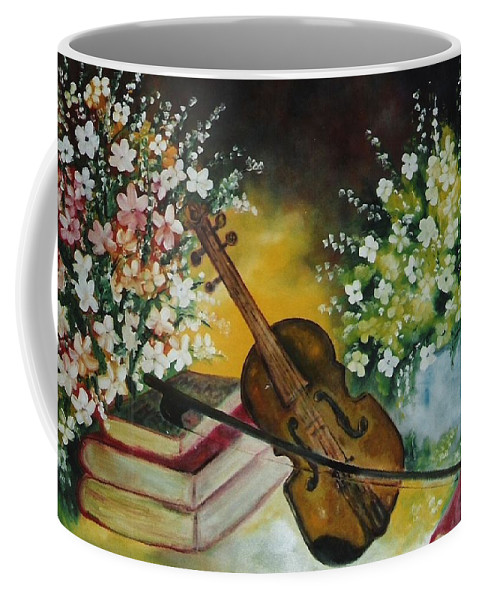 Violin Coffee Mug featuring the painting Silent Voices by Lord Frederick Lyle Morris