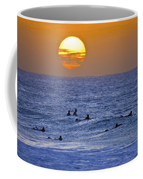 Silhouettes Coffee Mug featuring the photograph Silhouettes And Gold by Sean Davey