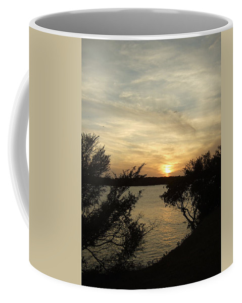 Coffee Mug featuring the photograph Silhouettes Of Sunset by Katerina Naumenko