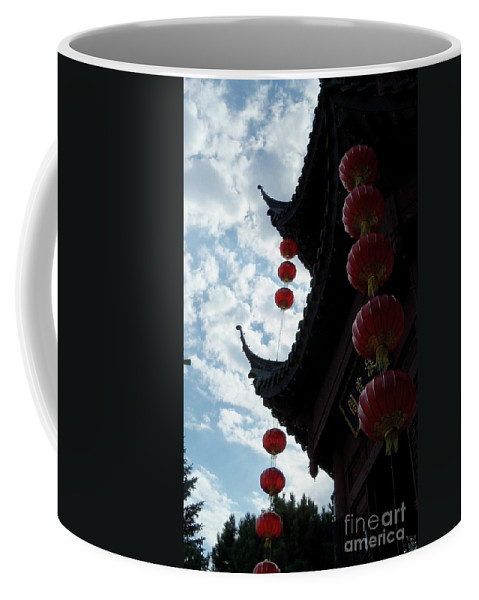 Chinese Gazebo Coffee Mug featuring the photograph Silhouettes Of Zen by Lingfai Leung