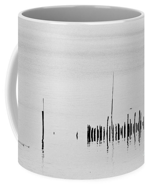Heiko Coffee Mug featuring the photograph Silver Pond And Poles by Heiko Koehrer-Wagner