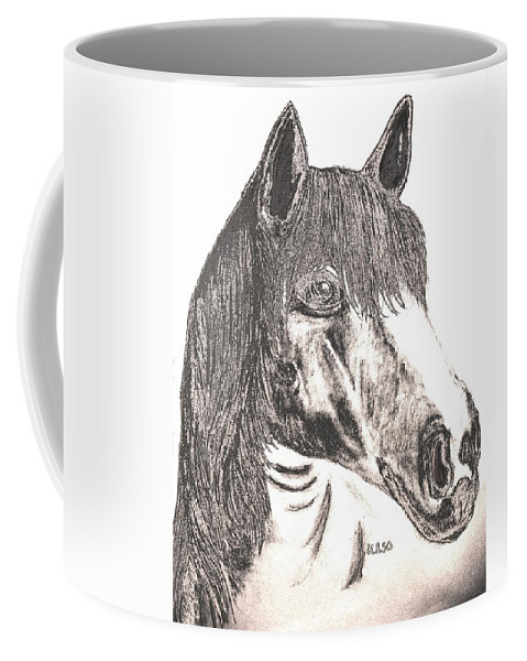 Silverboy Coffee Mug featuring the drawing Silverboy by Maria Urso