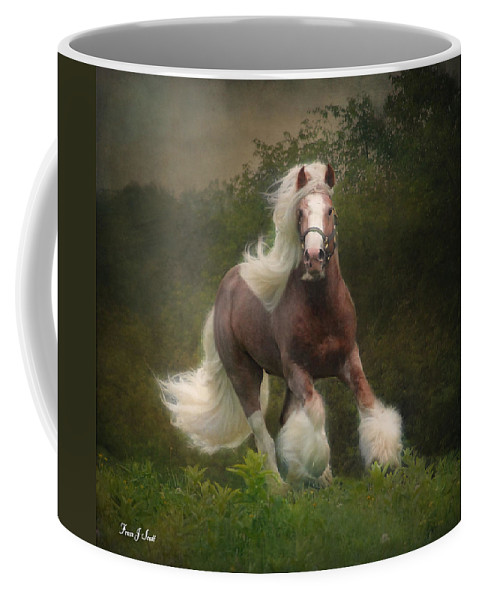 Horses Coffee Mug featuring the photograph Simon And The Storm by Fran J Scott