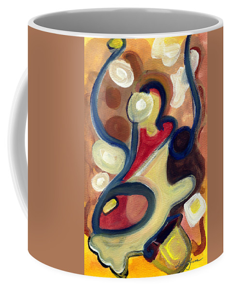Abstract Art Coffee Mug featuring the painting Simple Beauty by Stephen Lucas