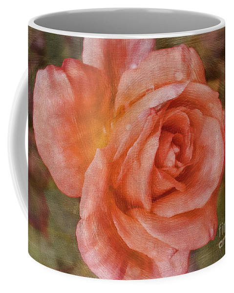 Rose Coffee Mug featuring the photograph Simply A Rose by Deborah Benoit