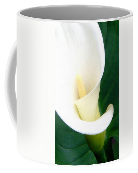 Calla Lily Coffee Mug featuring the photograph Simply Calla Lily by Angelina Vick