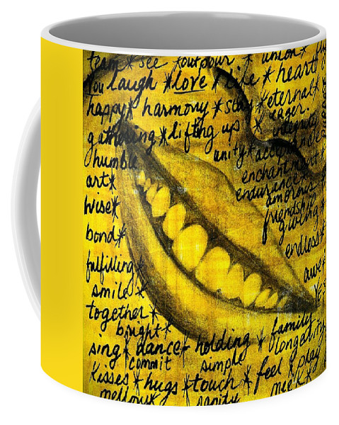 Beautiful Coffee Mug featuring the photograph Simply Smile and your golden virtues will be written all over you by Artist RiA