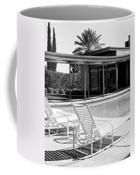 Featured Coffee Mug featuring the photograph Sinatra Pool Bw Palm Springs by William Dey