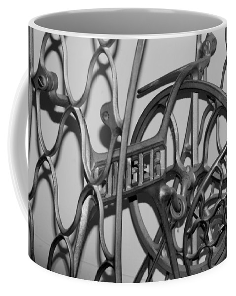 Singer Sewing Machine Coffee Mug featuring the photograph Singer by Rob Hans