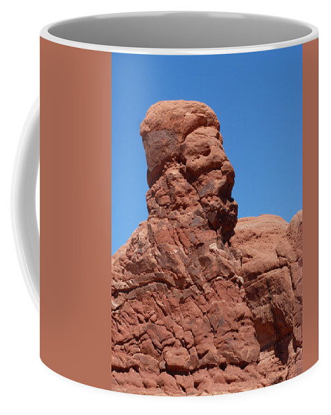 Rock Coffee Mug featuring the photograph Singing Rock At Arches Np by Susan Porter