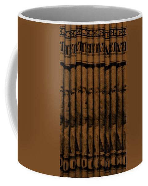 Money Coffee Mug featuring the photograph Singles In Copper by Rob Hans