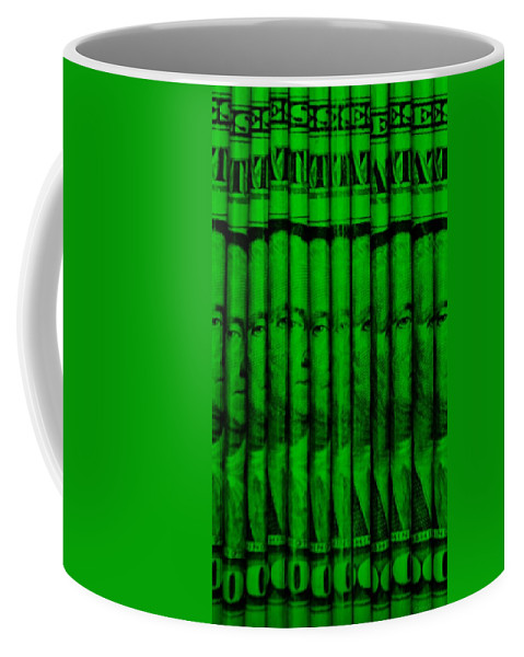Money Coffee Mug featuring the photograph Singles In Green by Rob Hans