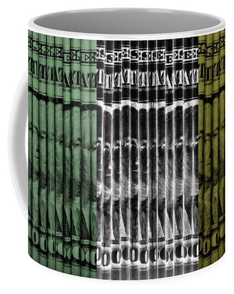 Money Coffee Mug featuring the photograph Singles In Tri Colors by Rob Hans