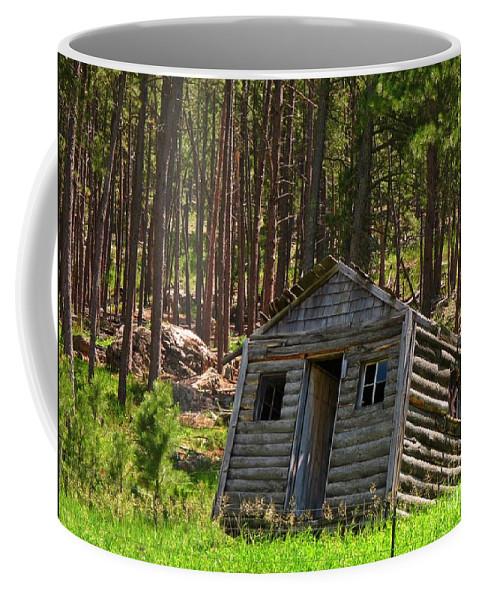 Sinking Cabin Coffee Mug featuring the photograph Sinking Cabin by John Malone