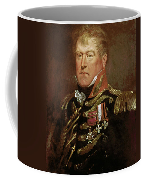 1815 Coffee Mug featuring the painting Sir George Wood (1767-1831) by Granger