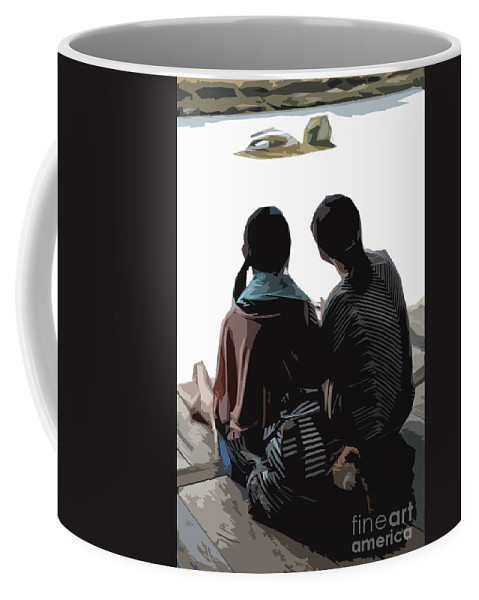 Sisters Coffee Mug featuring the photograph Sisters At The Zen Garden by Stefan H Unger