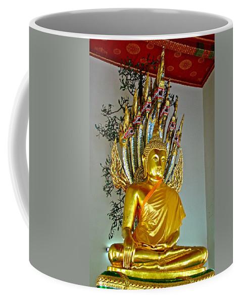 Sitting Buddha In Wat Po In Bangkok Coffee Mug featuring the photograph Sitting Buddha In Wat Po In Bangkok-thailand by Ruth Hager