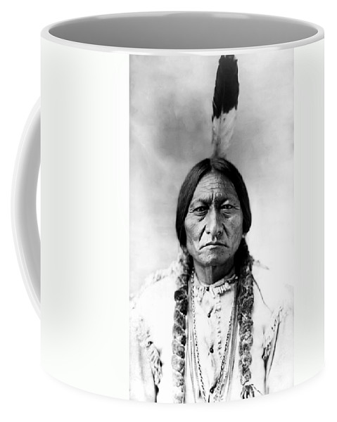 Sitting Bull Coffee Mug featuring the photograph Sitting Bull by Bill Cannon