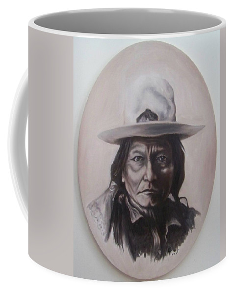Michael Coffee Mug featuring the painting Sitting Bull by Michael TMAD Finney
