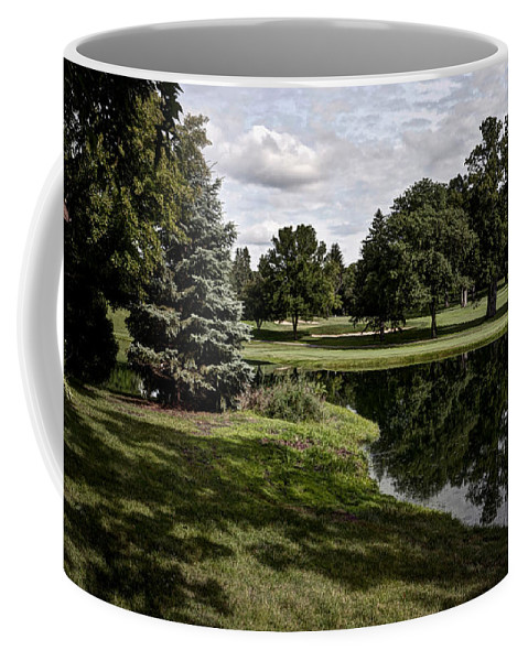 Lake Coffee Mug featuring the photograph Sixth Hole Reflections by Deborah Klubertanz