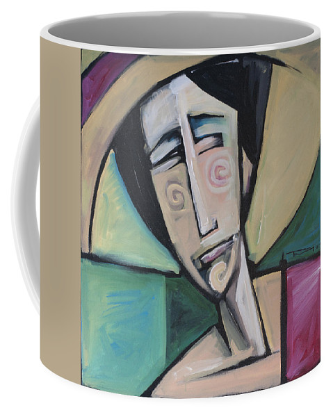 Woman Coffee Mug featuring the painting Sizing Up The Situation by Tim Nyberg