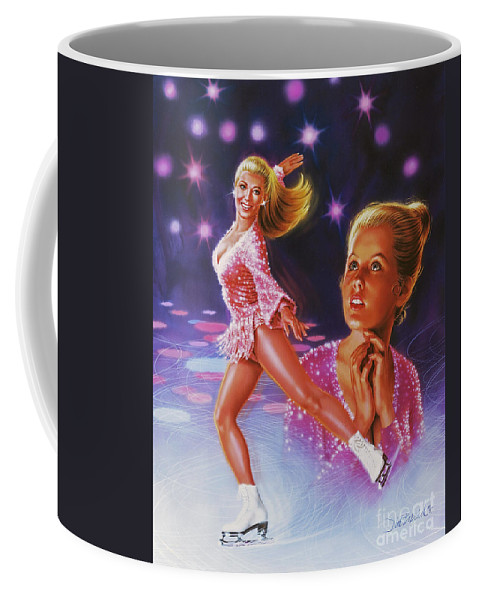Portrait Coffee Mug featuring the painting Skaters Dream by Dick Bobnick