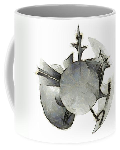 Vector Coffee Mug featuring the photograph sketch of Brasilia skyline by Michal Boubin