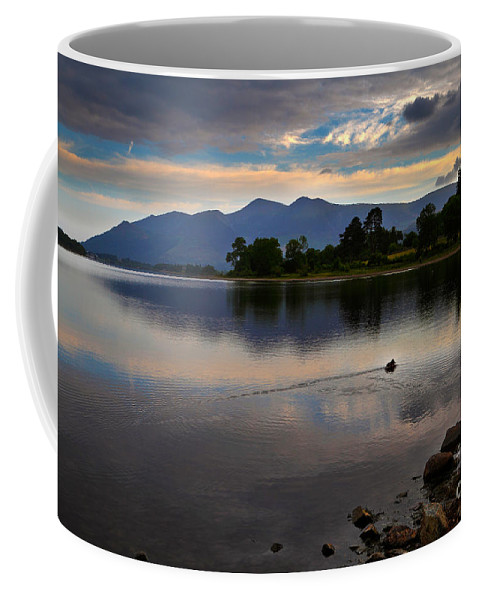 Travel Coffee Mug featuring the photograph Skiddaw And Derwent Water At Dawn by Louise Heusinkveld