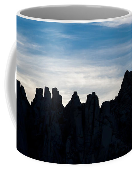 California Coffee Mug featuring the photograph Sky Castles - The Mojave by Peter Tellone