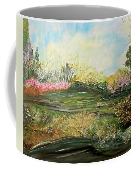 Inspirational Coffee Mug featuring the painting Sky Dazzle by Sara Credito