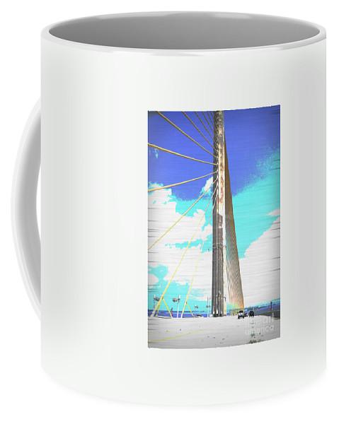Skybridge Coffee Mug featuring the digital art Skybridge by Jennifer Rose Hill