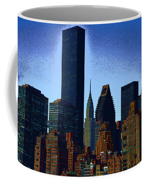 New York Coffee Mug featuring the photograph Skyline From Roosevelt Island by Jeff Watts