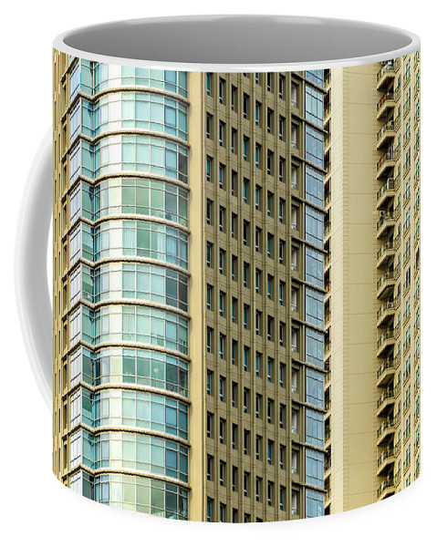 Building Coffee Mug featuring the photograph Skyscraper Closeup by Jess Kraft