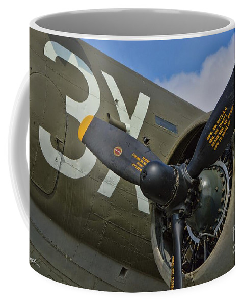 Douglas C-47 Skytrain Coffee Mug featuring the photograph Skytrain 3x by Tommy Anderson